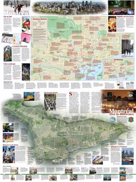 Montreal sightseeing map