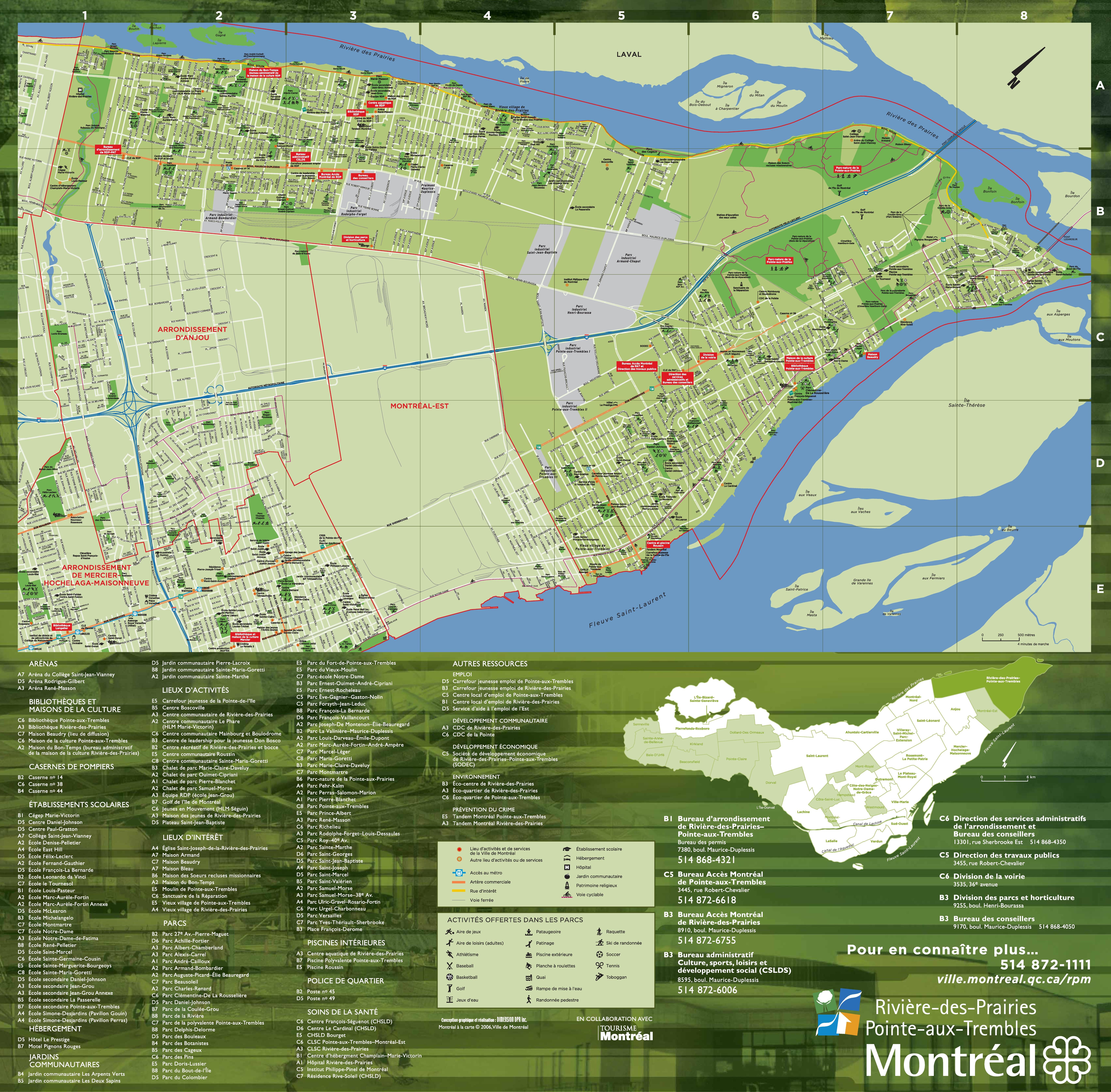 RiviredesPrairiesPointeauxTrembles map