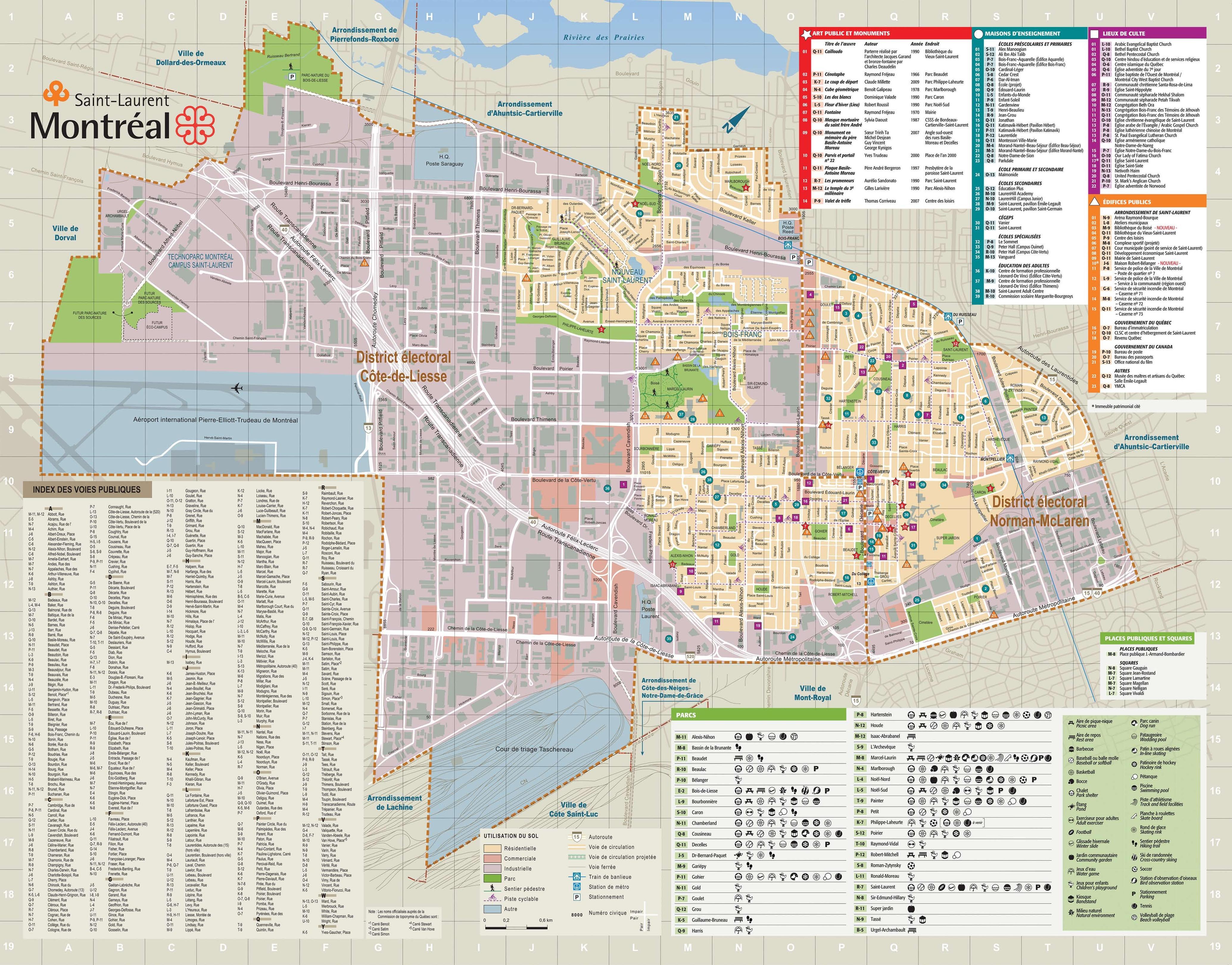 SaintLaurent map