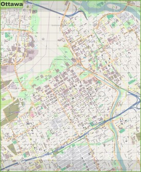 Large detailed map of Ottawa