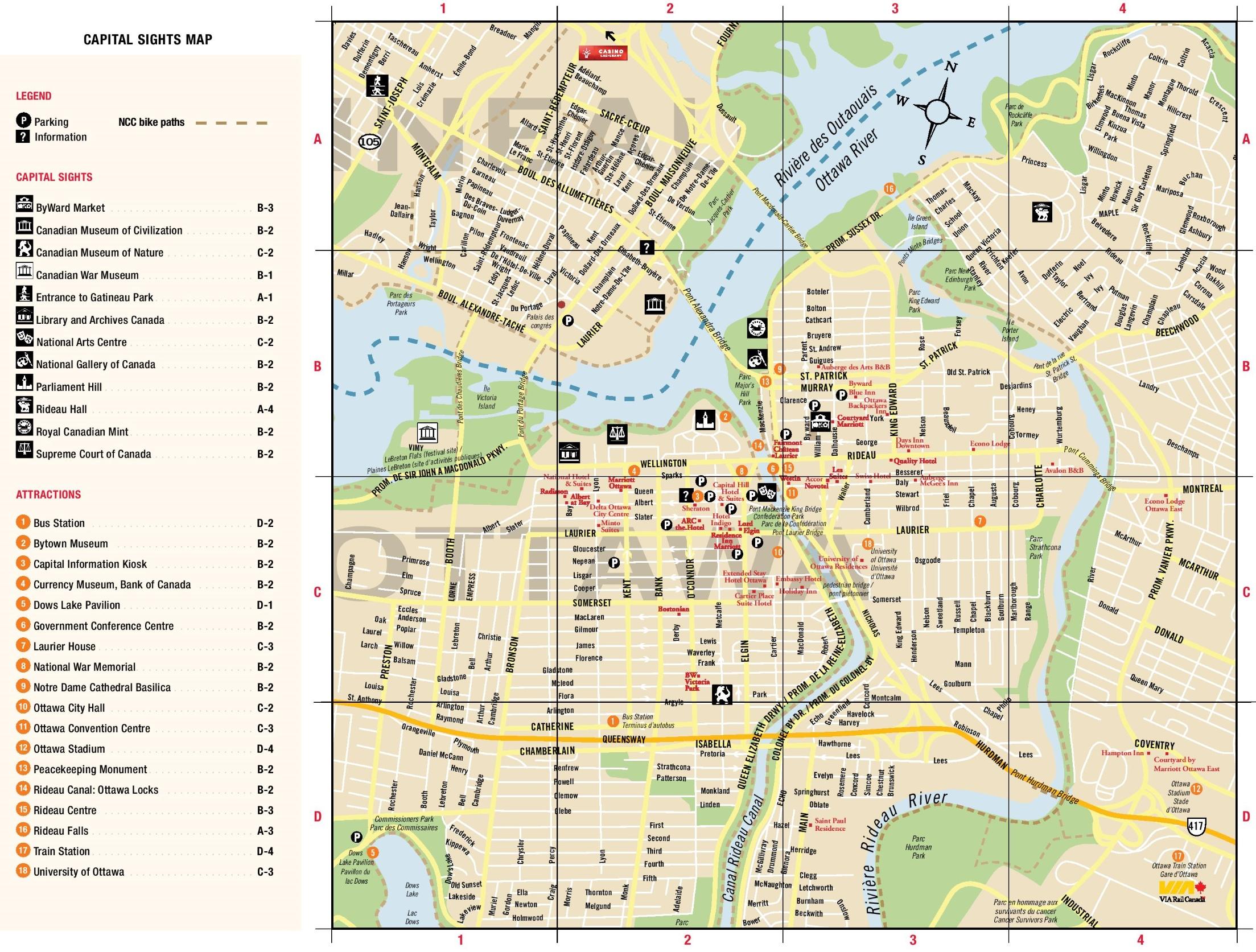 Downtown Ottawa Map Ottawa downtown map Downtown Ottawa Map