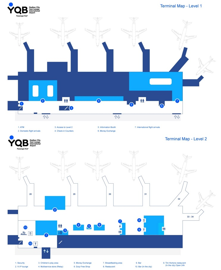 Quebec City airport map