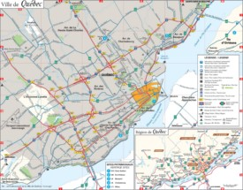 Quebec City area map