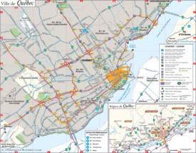 Quebec City area map