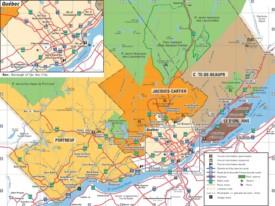 Quebec City road map