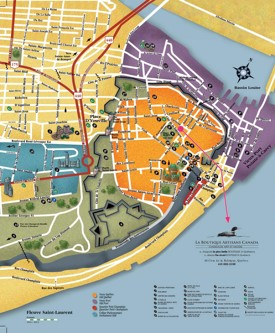 Quebec City sightseeing map