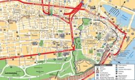 Quebec City tourist map