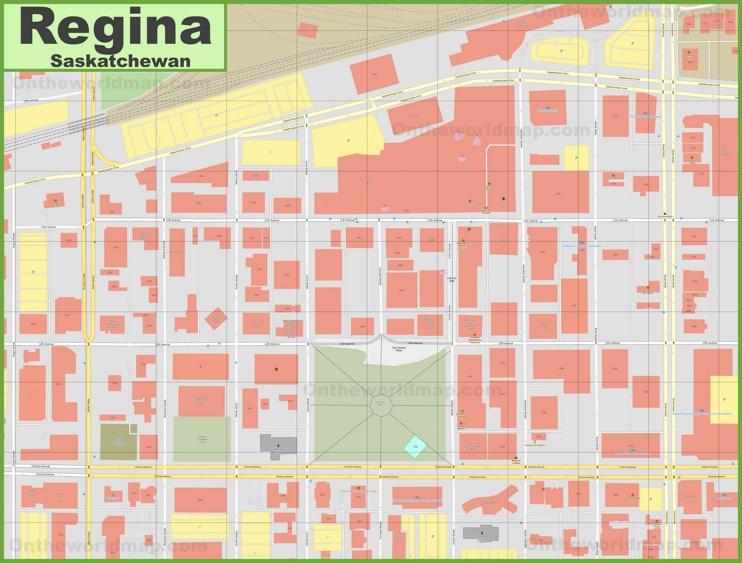 Regina downtown map