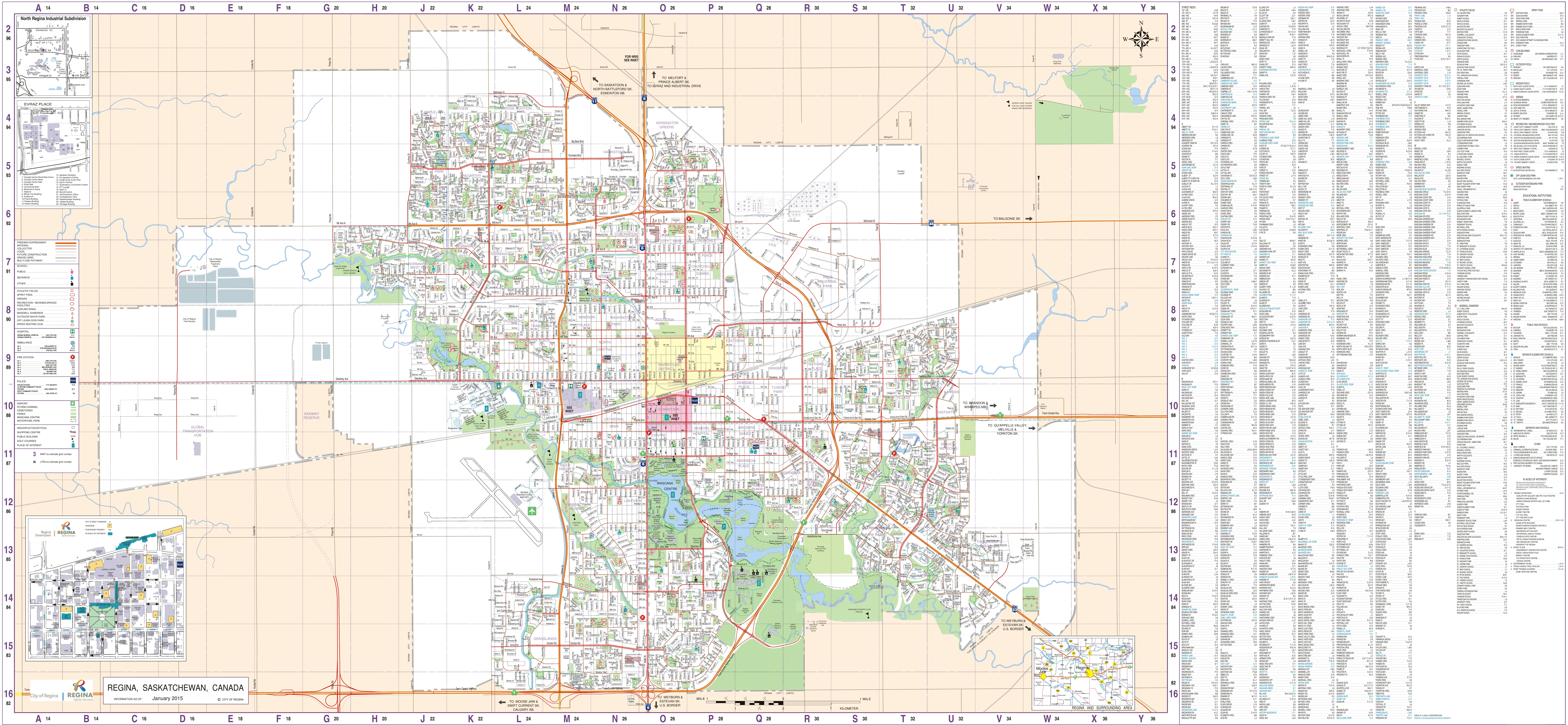 Map Of Regina Canada Regina street map