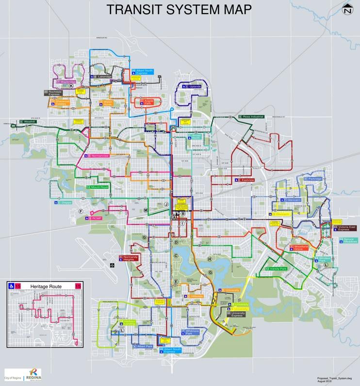 Regina transport map