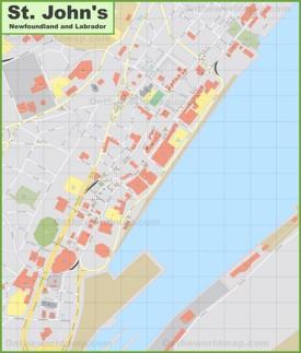 St. John's downtown map