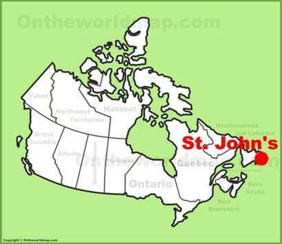 saint john canada map St John S Maps Newfoundland And Labrador Canada Maps Of St