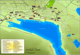 St. John's tourist attractions map