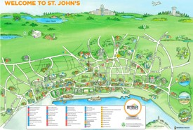St. John's tourist map