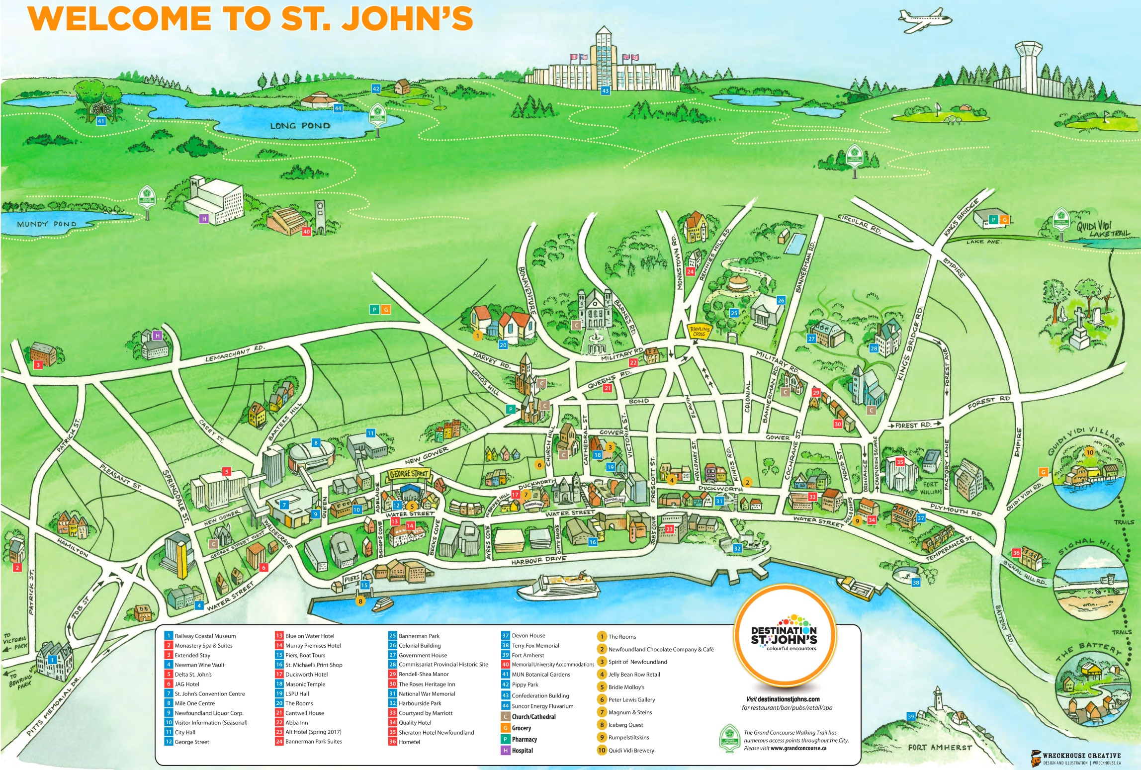 St John S Tourist Map