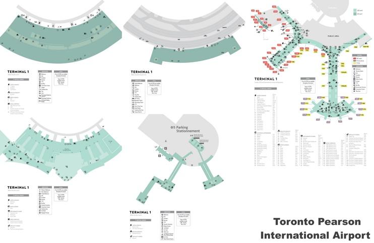 Toronto airport terminal 1 map