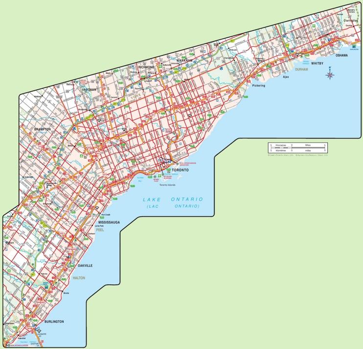 Toronto area map