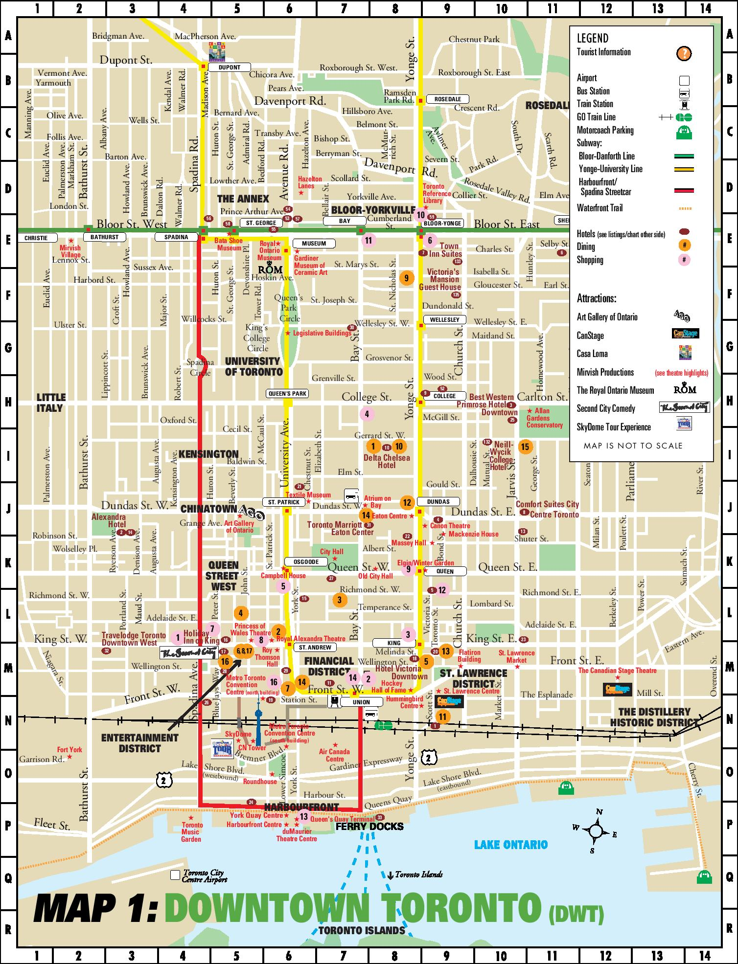 Map Of Toronto Downtown Toronto downtown map