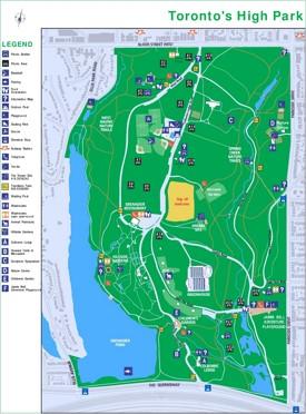 Toronto High Park map