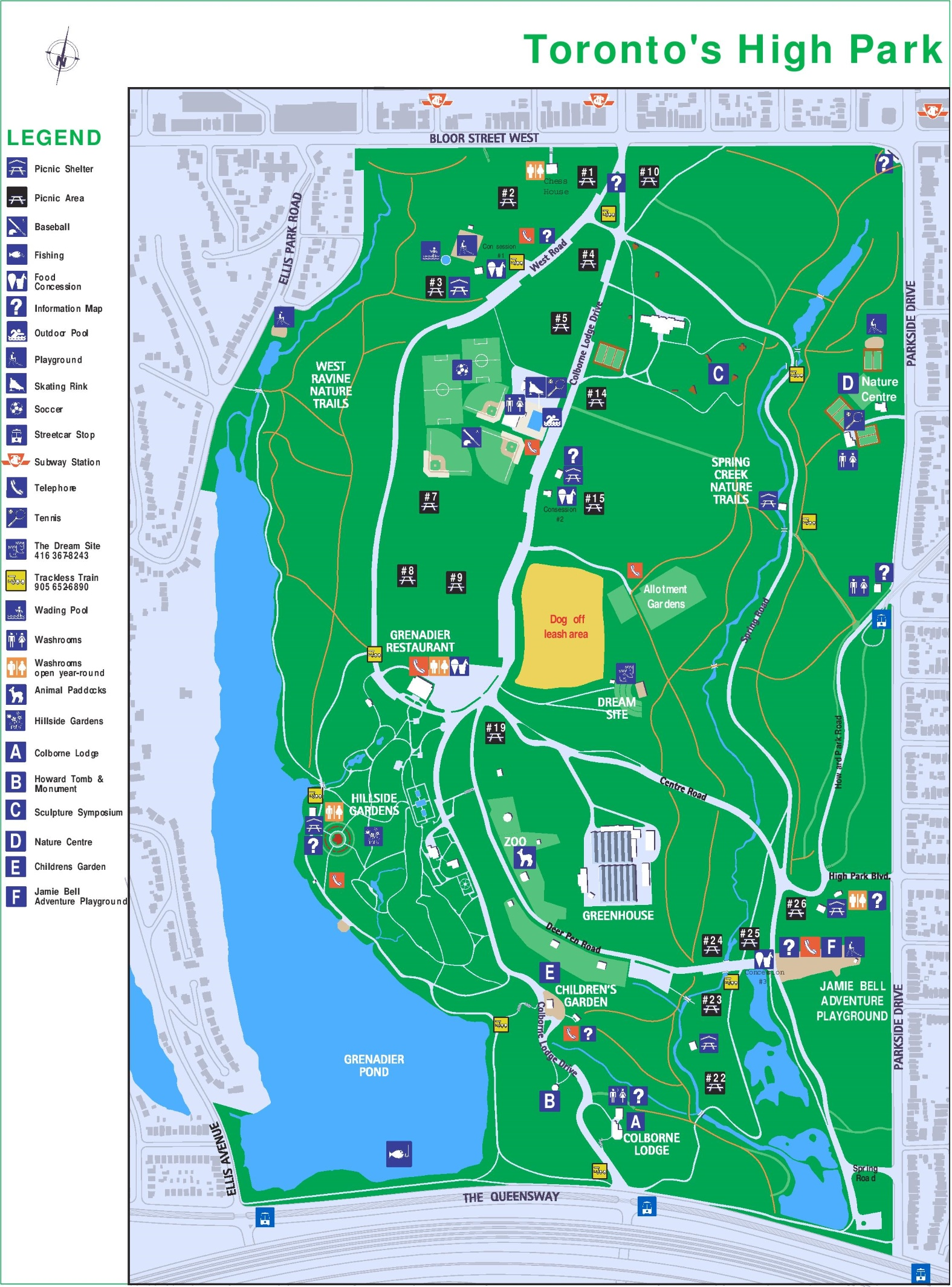 High Park Map Toronto High Park map High Park Map