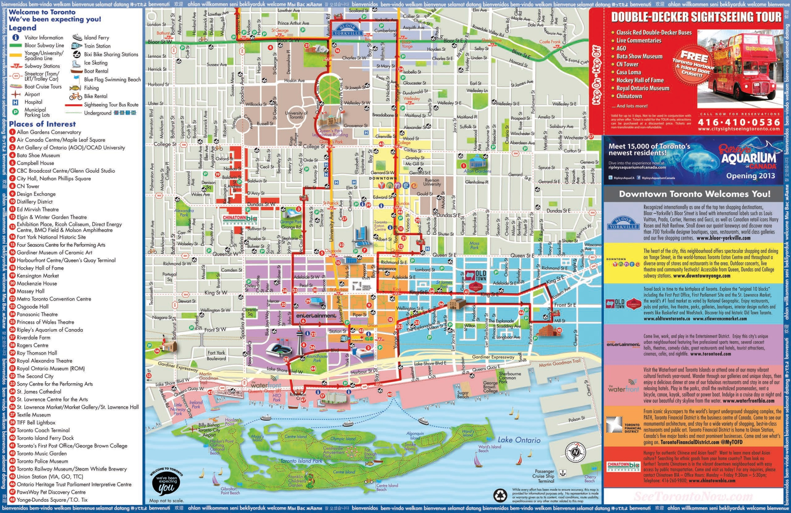 Maps Toronto.Toronto Sightseeing Map