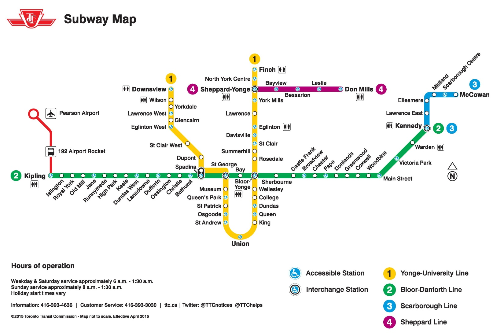 Printable Metro Map.Toronto Subway Map