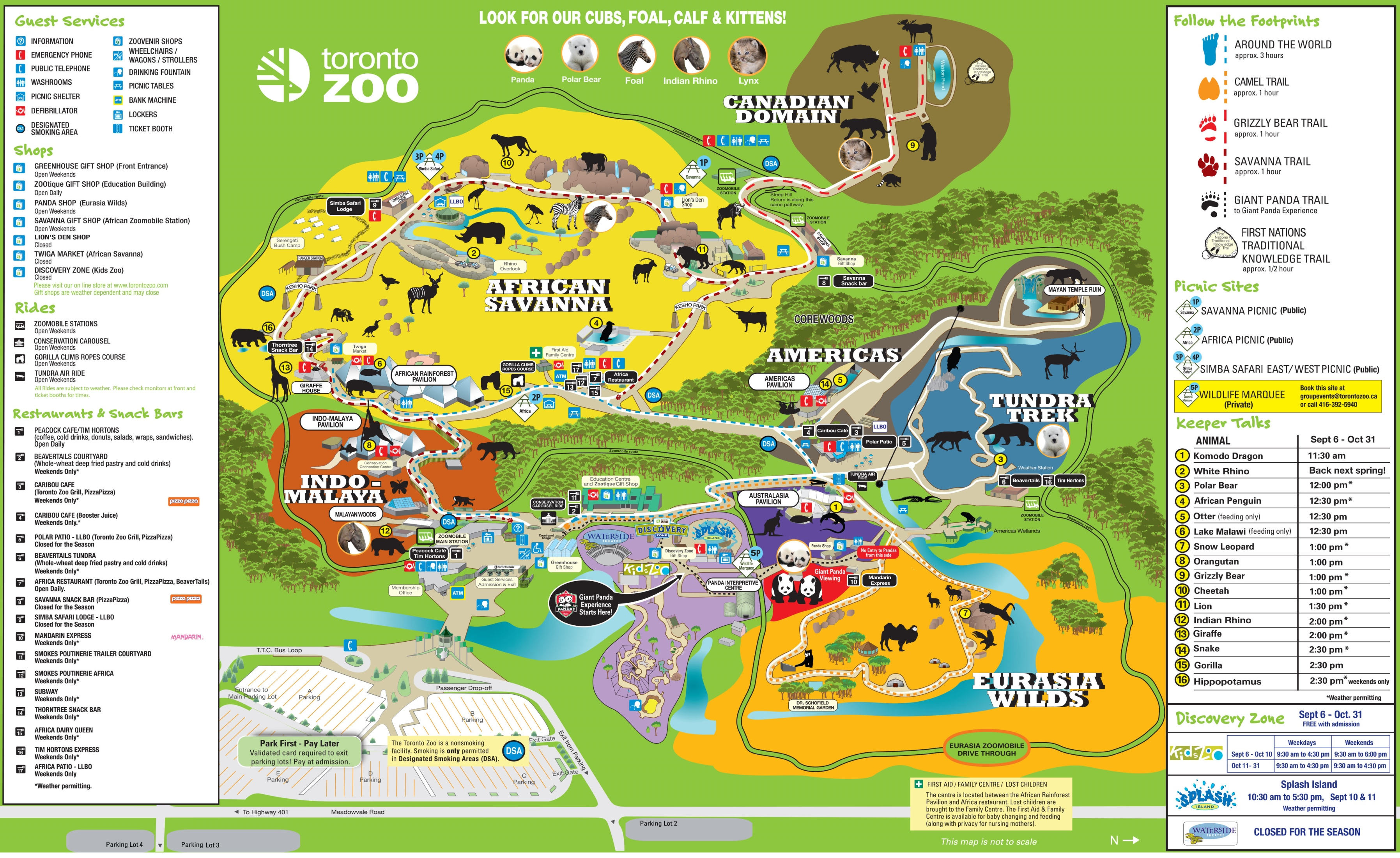 Africa zoo map