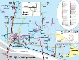 Vancouver C-Tran map