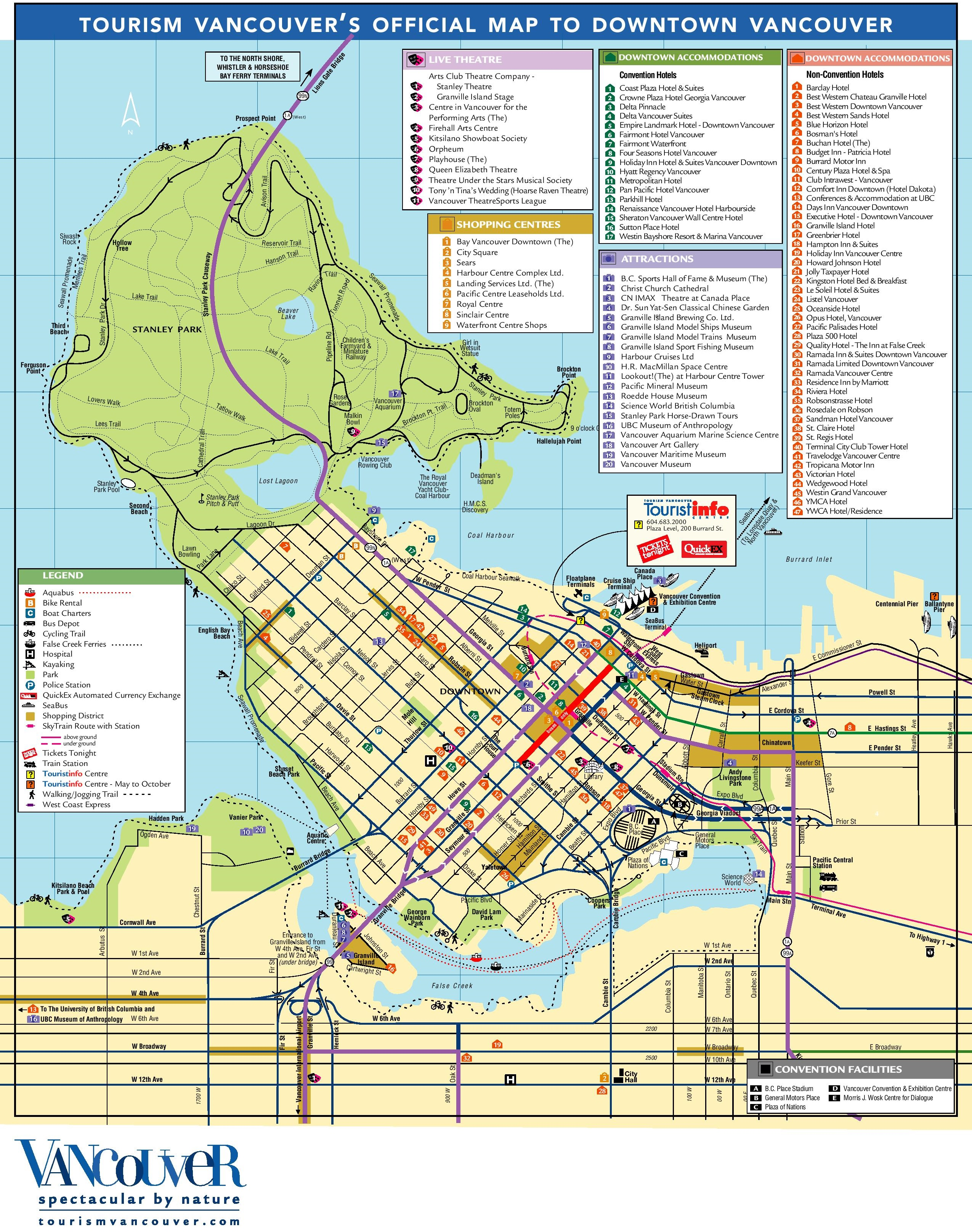 Vancouver tourist attractions map – Tourist Attractions Map In Canada