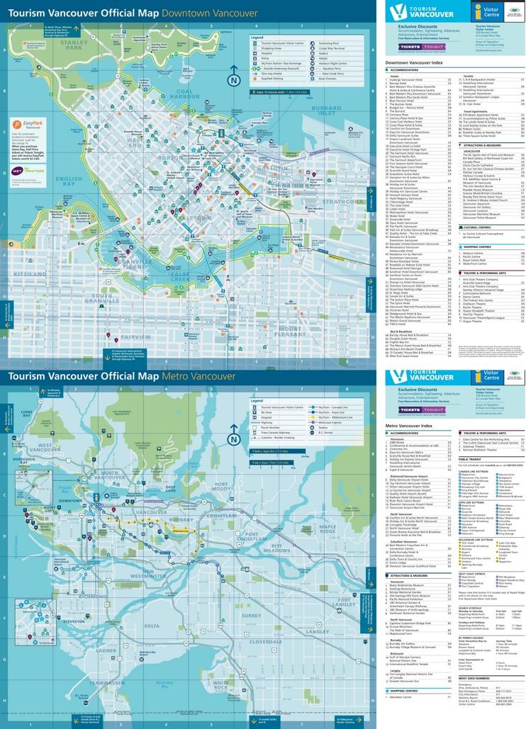 Vancouver tourist map