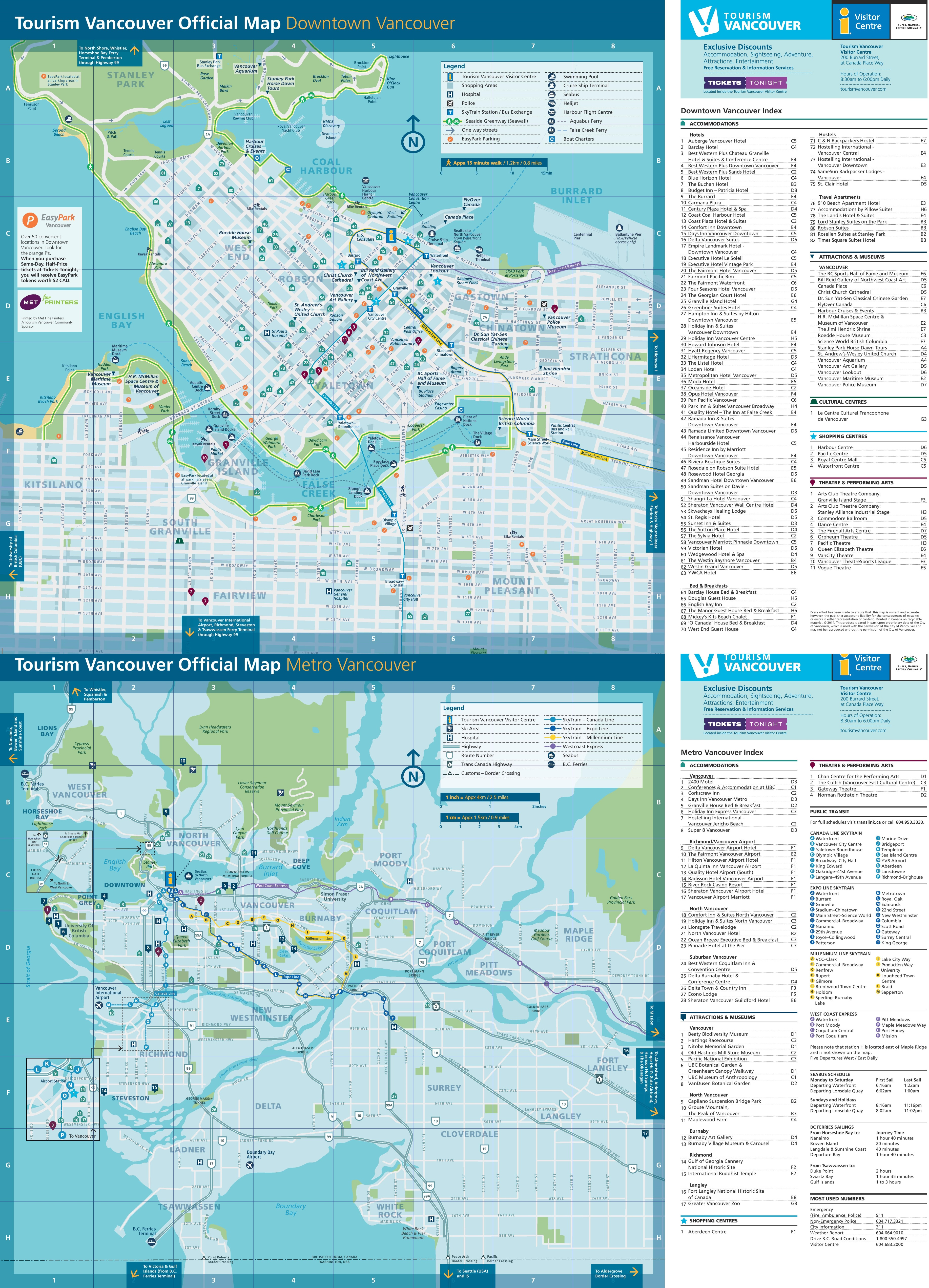 Vancouver Maps Canada – Vancouver Tourist Map