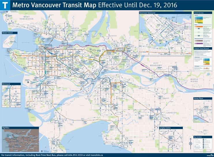 Vancouver transport map