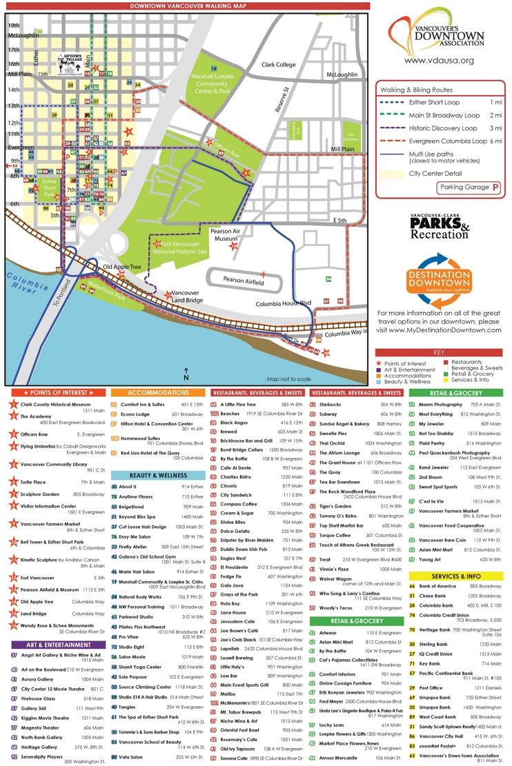 Vancouver walking map