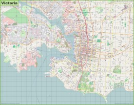Large detailed map of Victoria