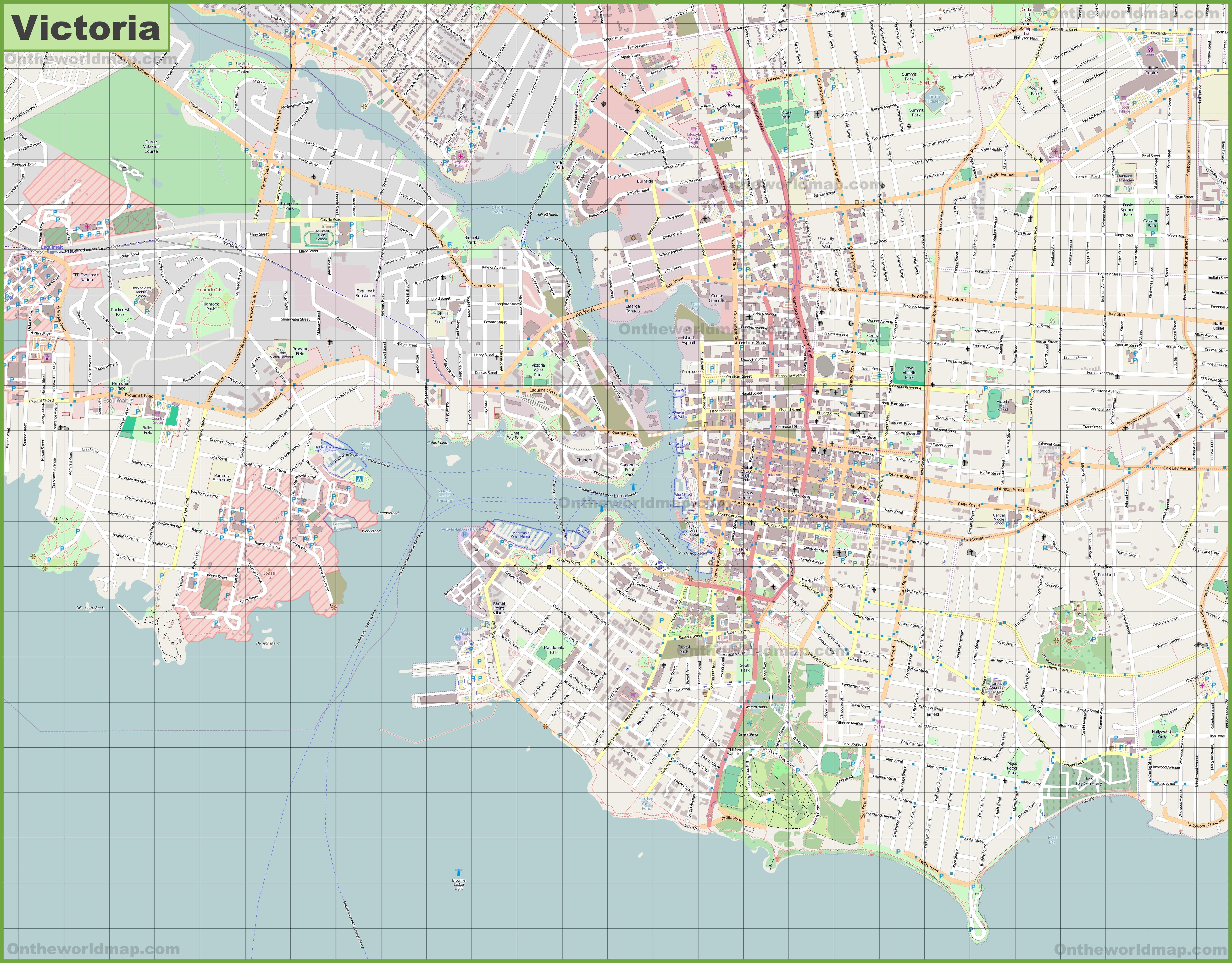 Victoria Maps British Columbia Canada Maps of Victoria