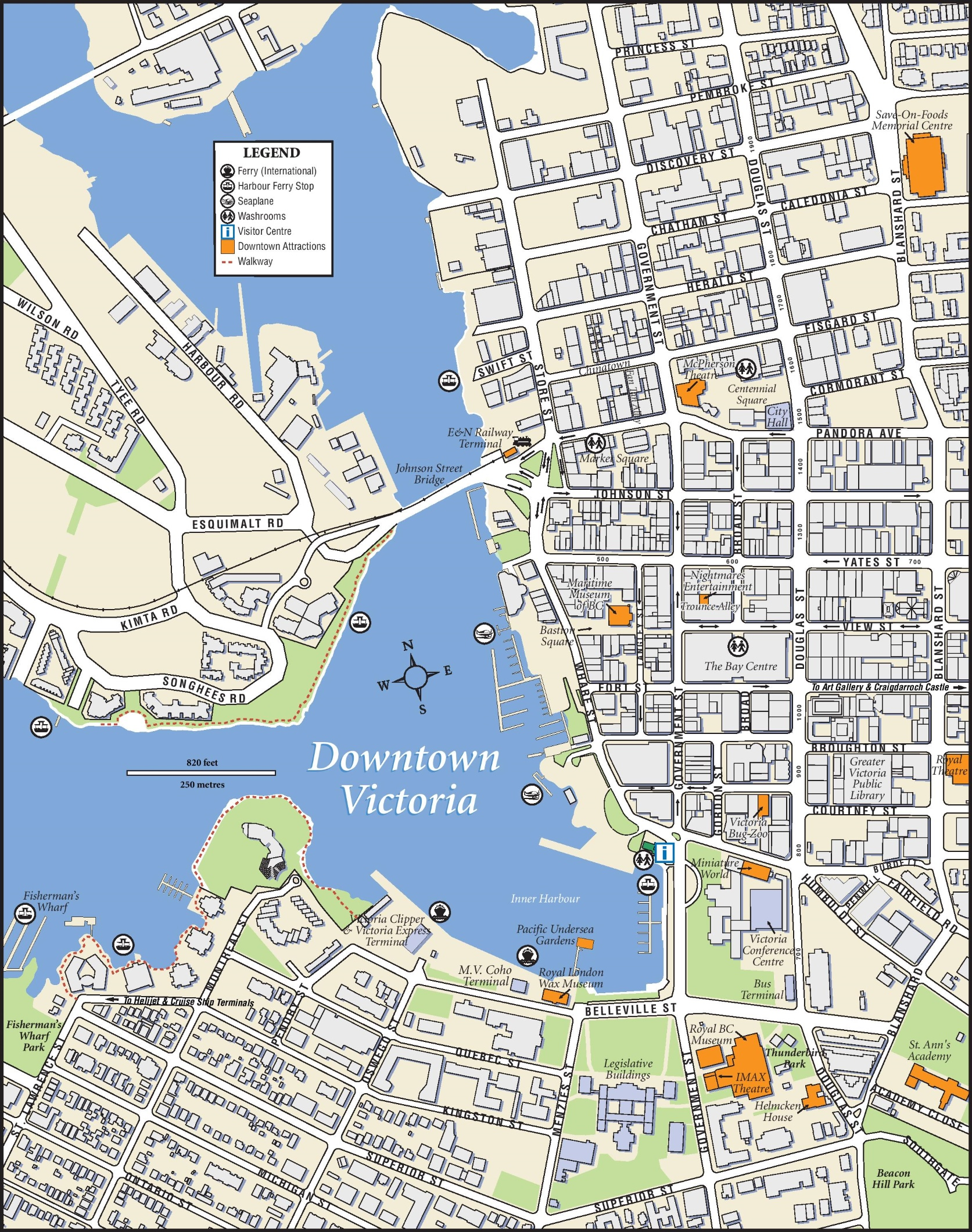 Victoria downtown map