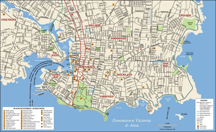 Victoria tourist attractions map