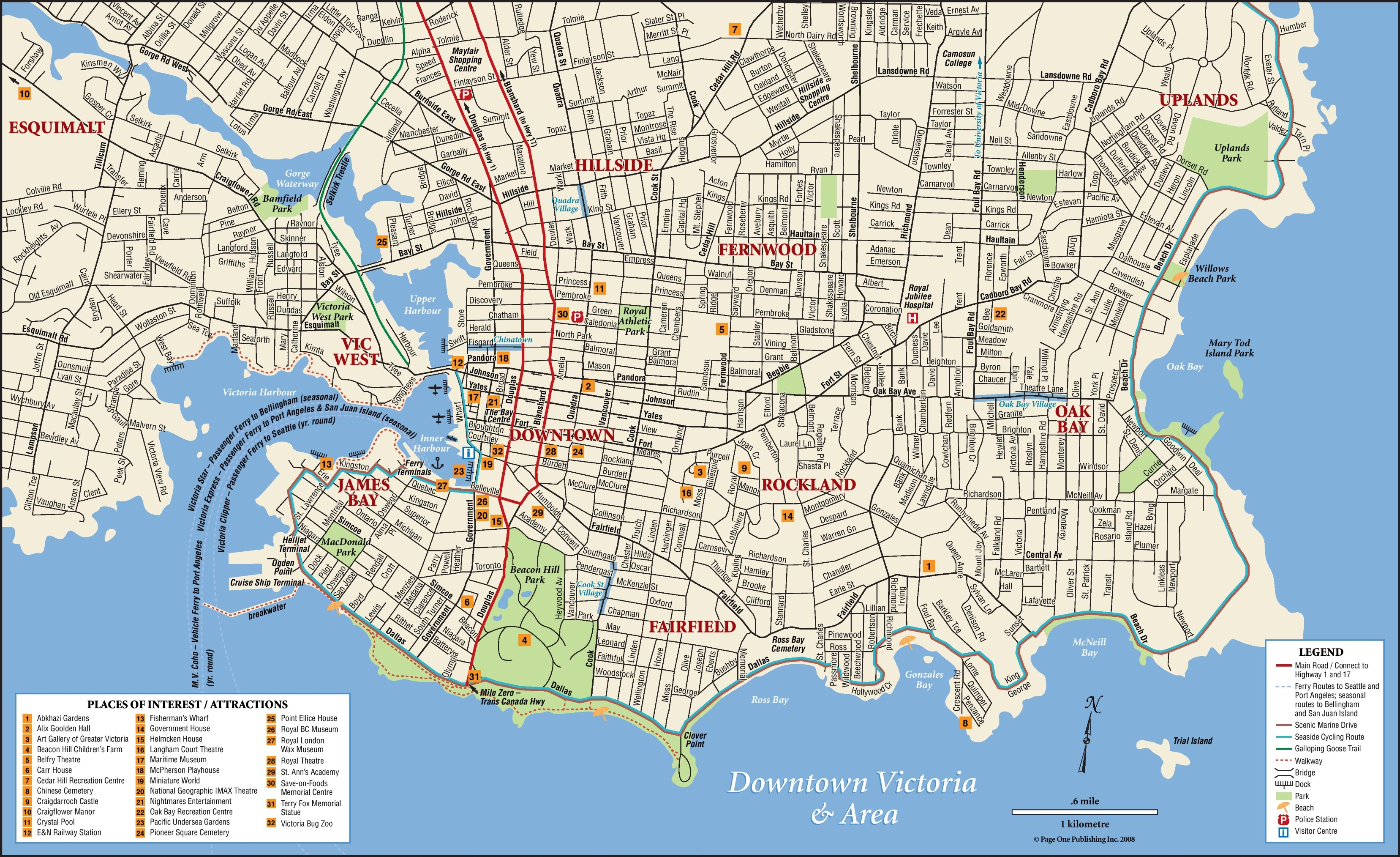 Victoria tourist attractions map – Tourist Attractions Map In Canada