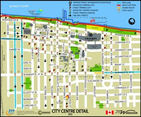 Windsor city center map