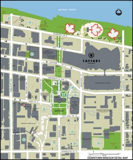 Windsor downtown tourist map