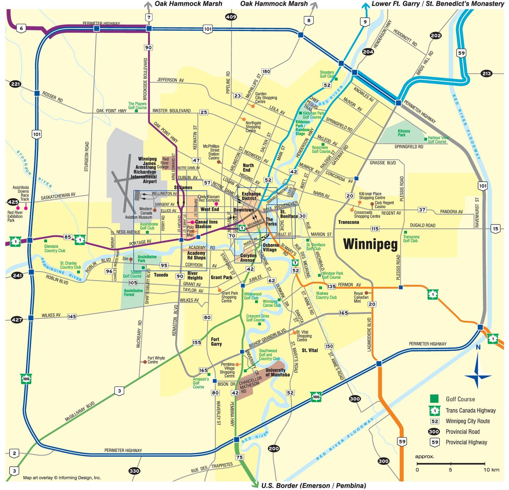 Map Of Winnipeg Winnipeg area map Map Of Winnipeg