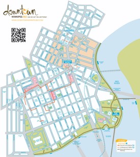 Winnipeg downtown map