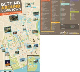 Winnipeg hotels and sightseeings map