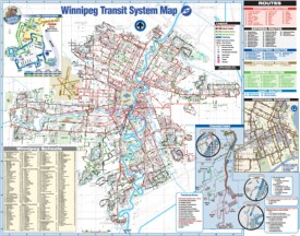 Winnipeg transport map