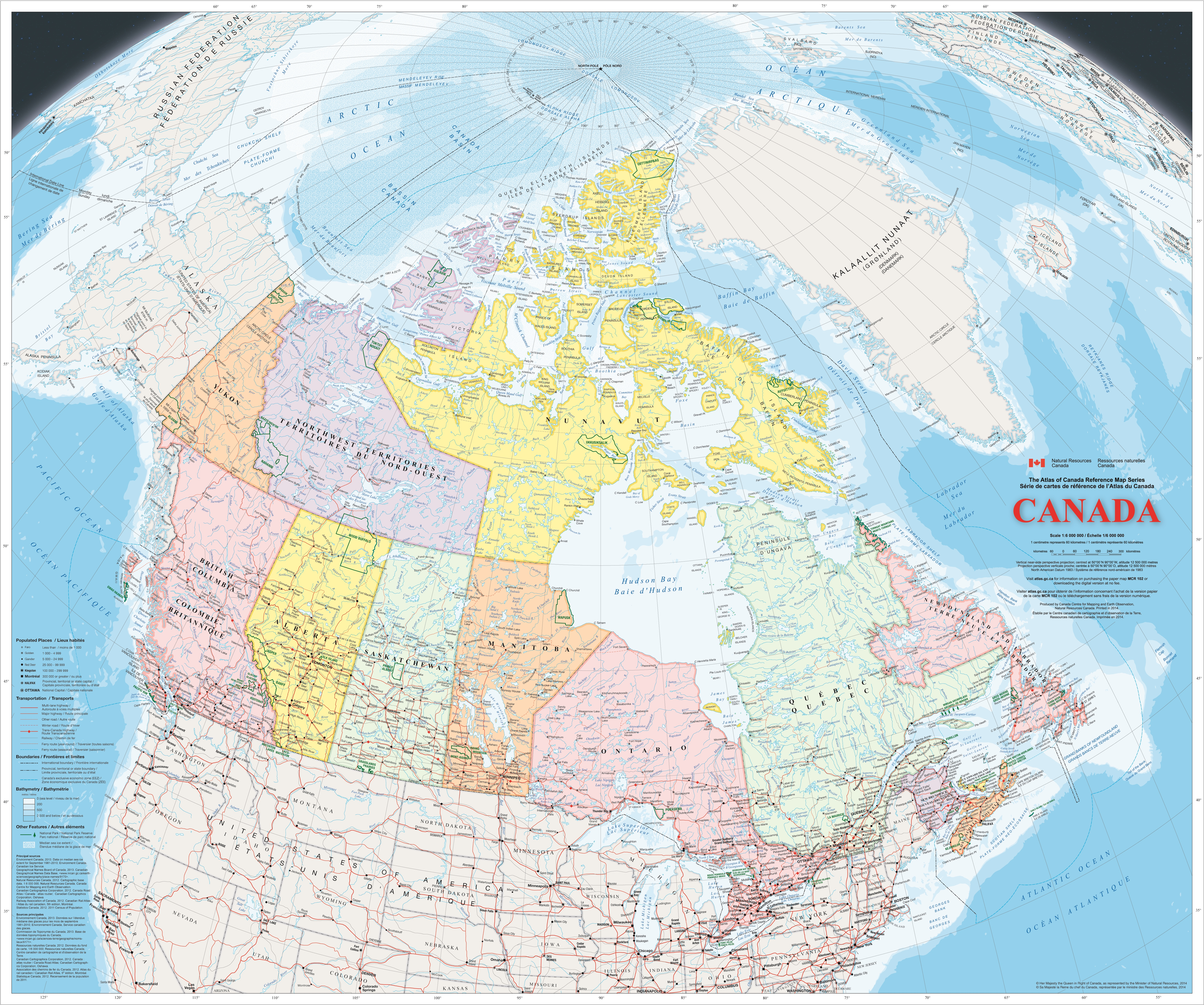 Map Of Canada With Cities And States.Large Detailed Map Of Canada With Cities And Towns