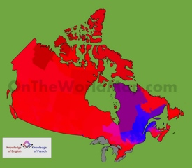 Map of languages in Canada