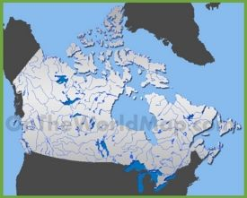 Map of rivers in Canada