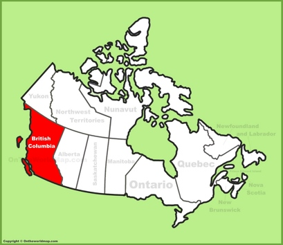 British Columbia Location Map