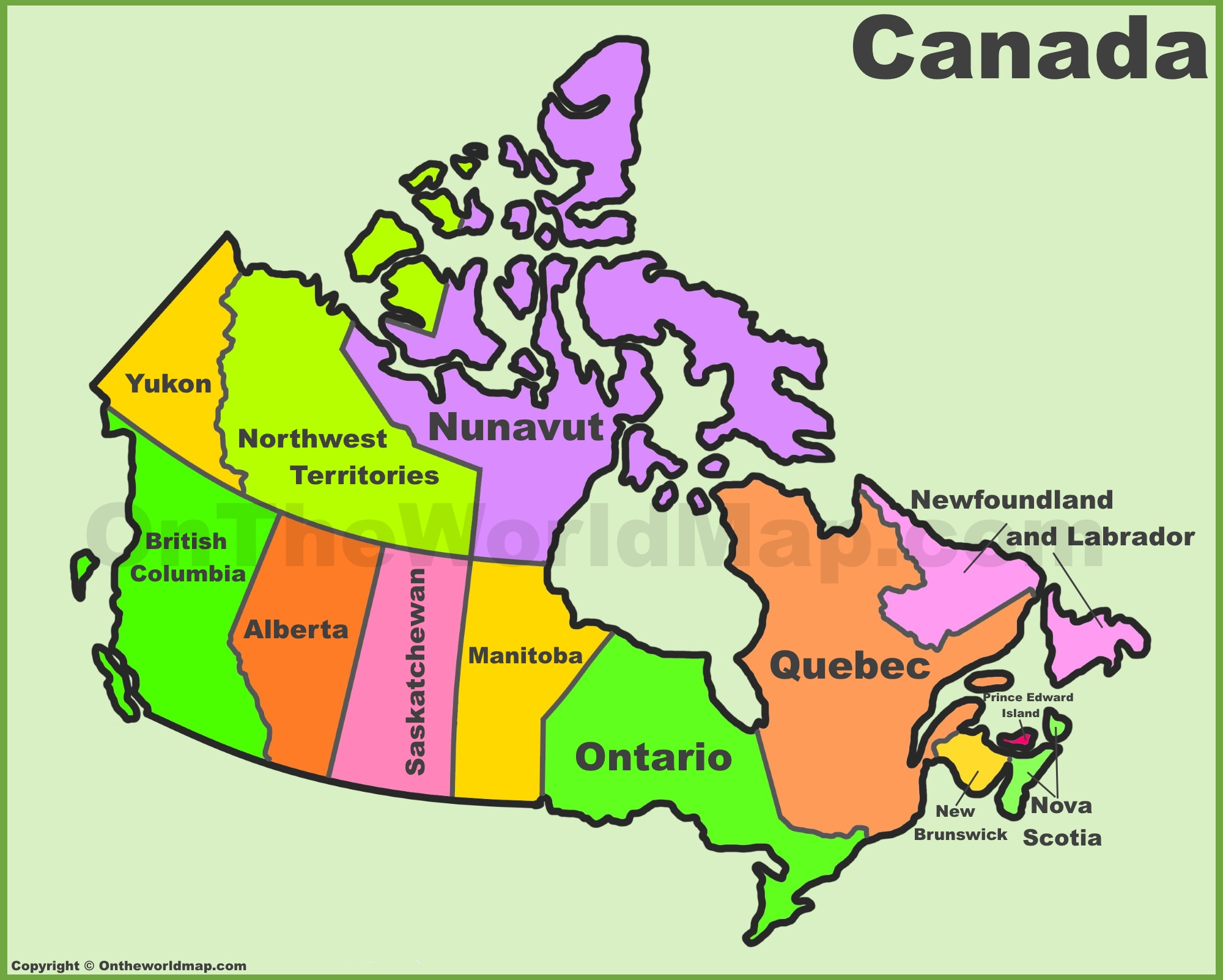 Map Of Canada Provinces Canada provinces and territories map | List of Canada provinces  Map Of Canada Provinces