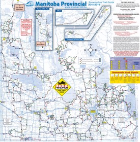 Manitoba snowmobile trail map